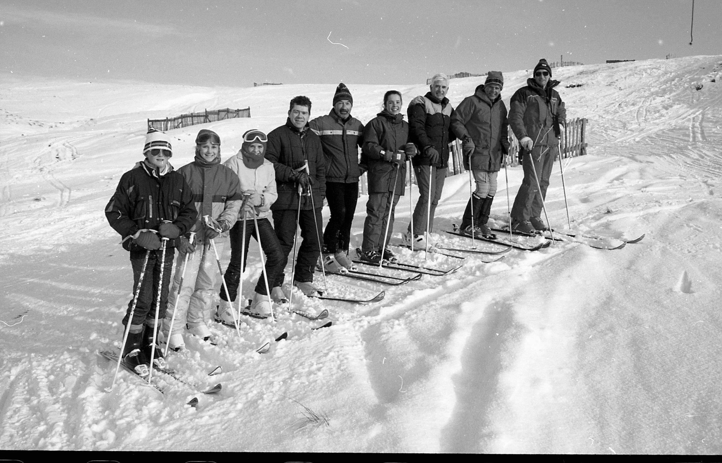 Skiers take to the slopes at Yad Moss, Alston in 1993. Do you recognise any faces?