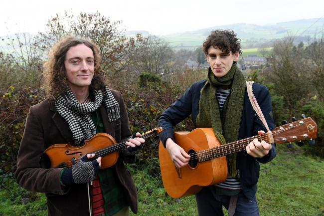 Sam and James Gillespie, who make up the Brothers Gillespie folk band.