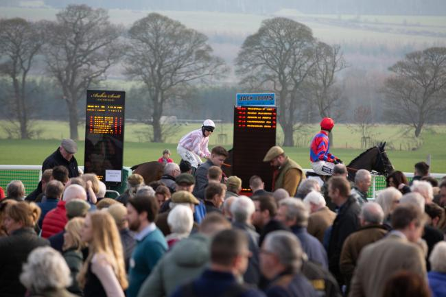 The Northern Area point-to-point at Corbridge in February.        Photo: VERITY JOHNSON