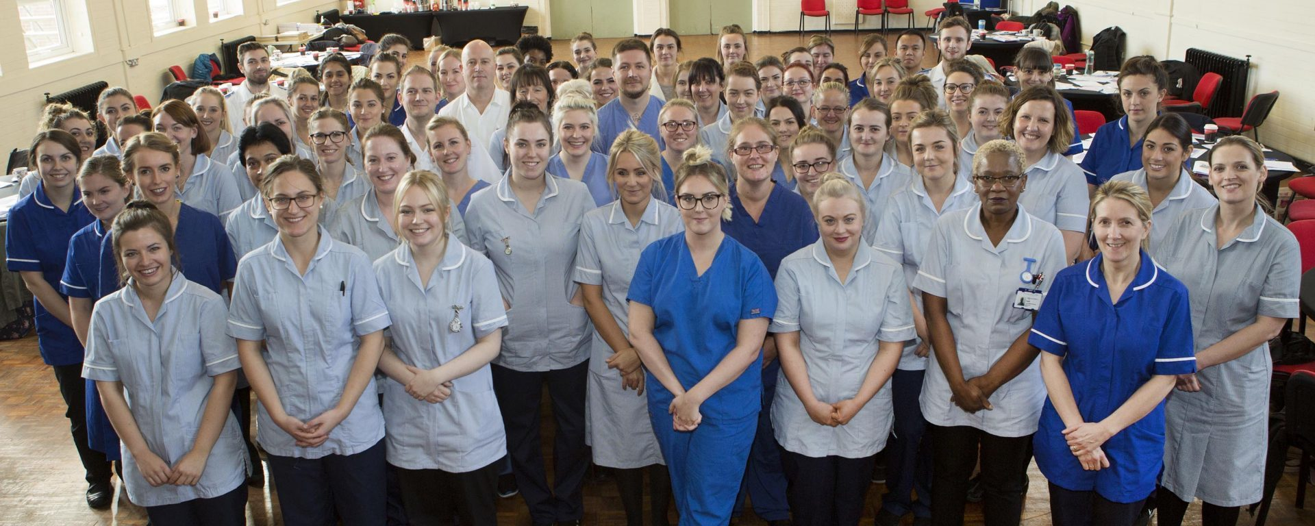 Staff at the NHS trust.