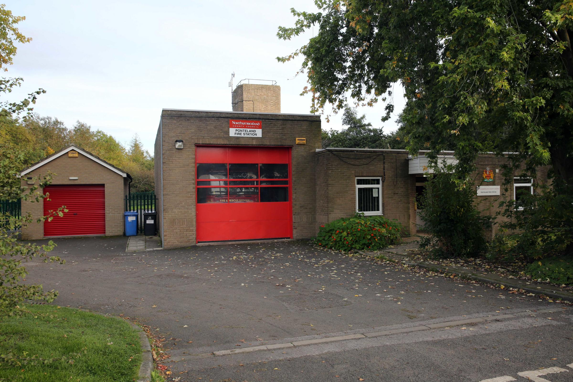 The existing Ponteland Fire Station, which will be demolished