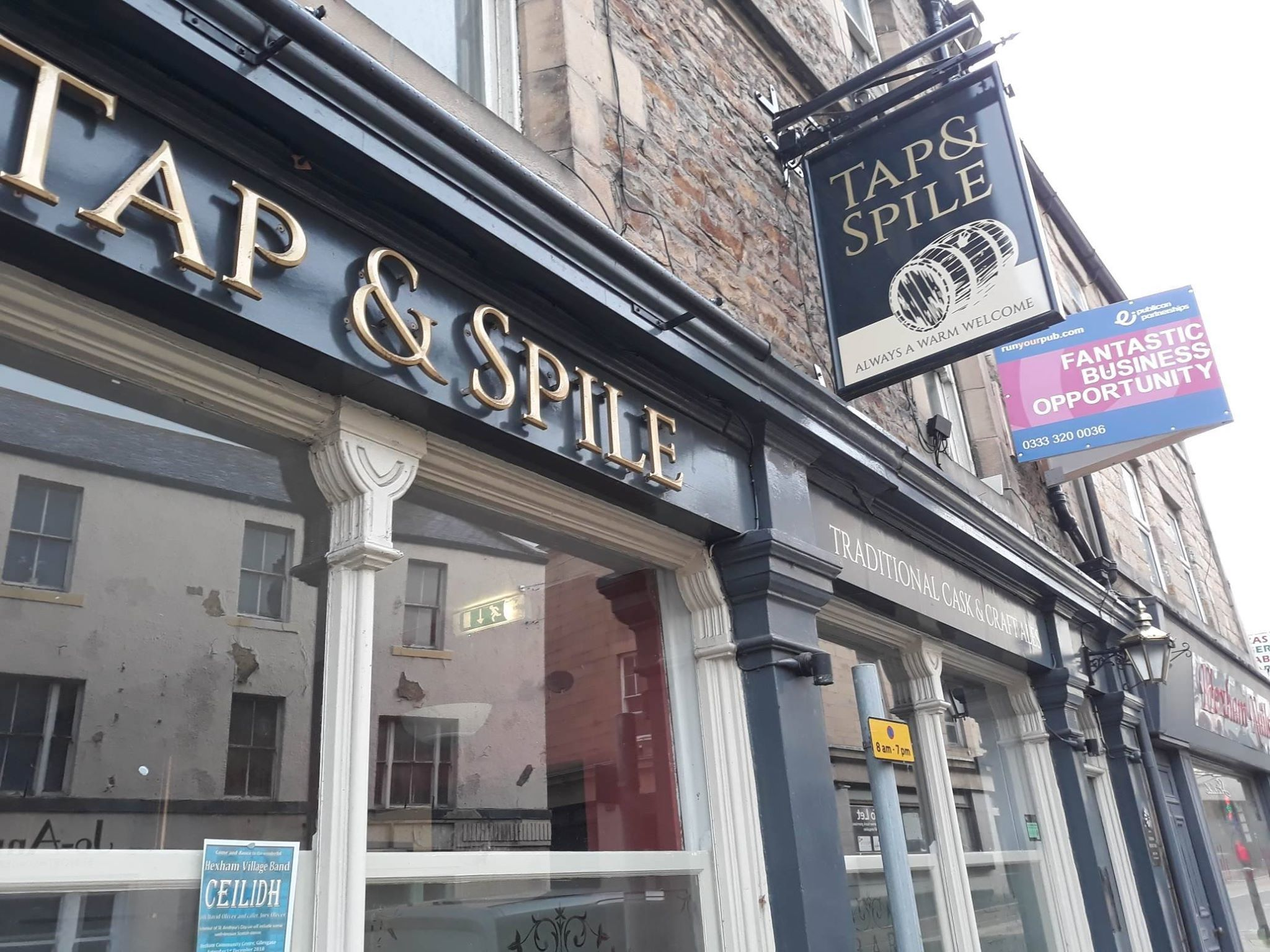 The Tap and Spile pub in Hexham.