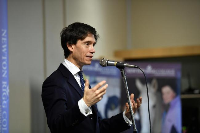 A Brexit question and answer session held at Newton Rigg College near Penrith hosted by Penrith and the Border MP Rory Stewart. The Justice Minister is voicing his support for the Brexit deal tabled by Prime Minister Theresa May which MP's will vote o
