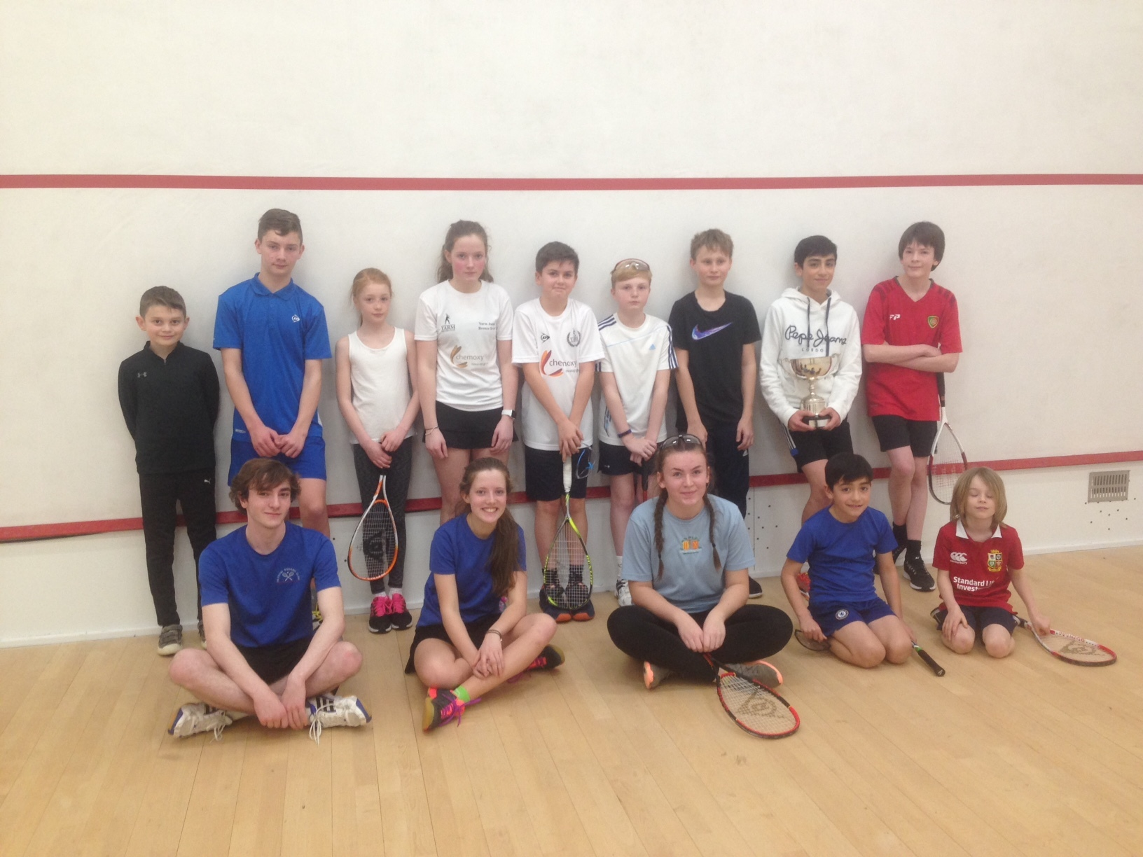 Hexham Squash Club juniors recently competed for the Dave Cave Memorial Trophy.