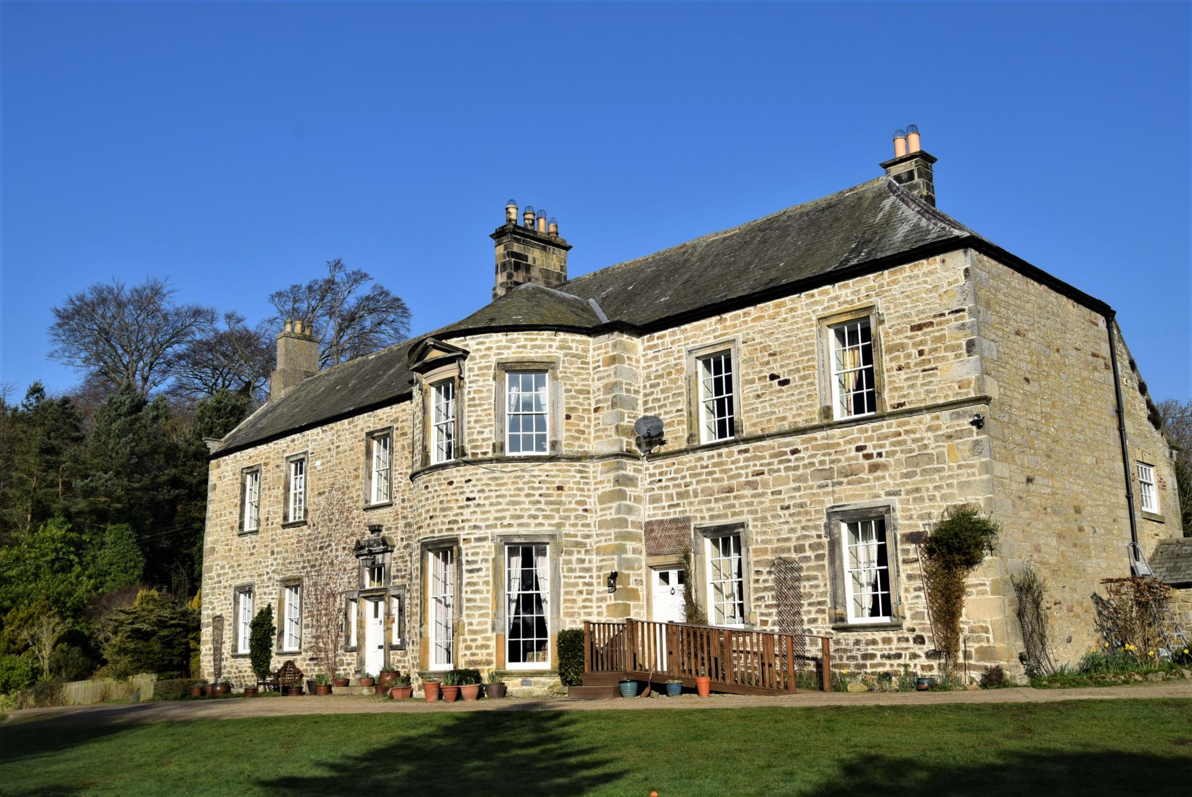 Sandhoe High House near Hexham is a listed property dating from the 1600s