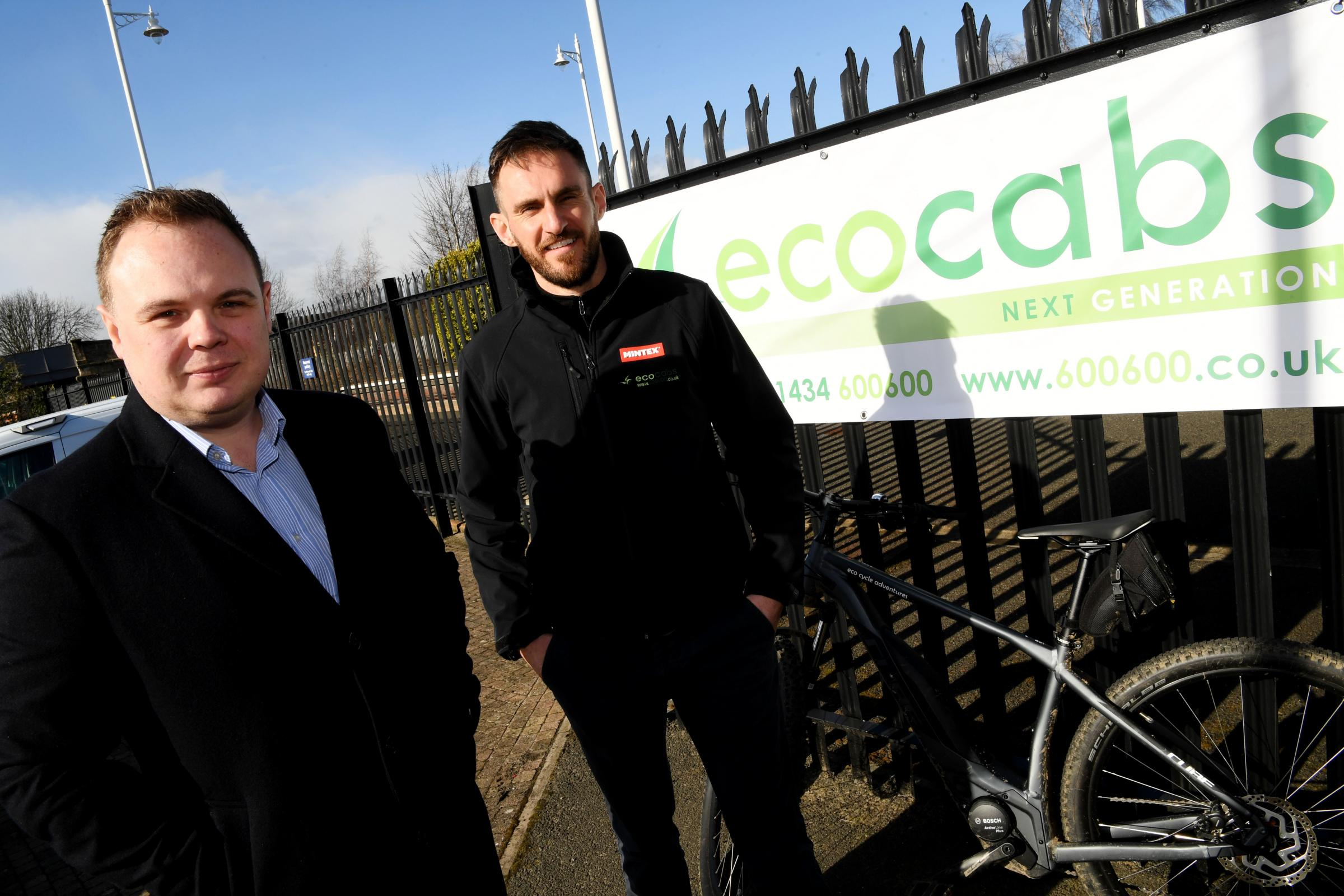 Dean Whitlie from Lloyds Bank and Matthew Kirkby from Ecocycle Adventures. 					            Photo: HX121945