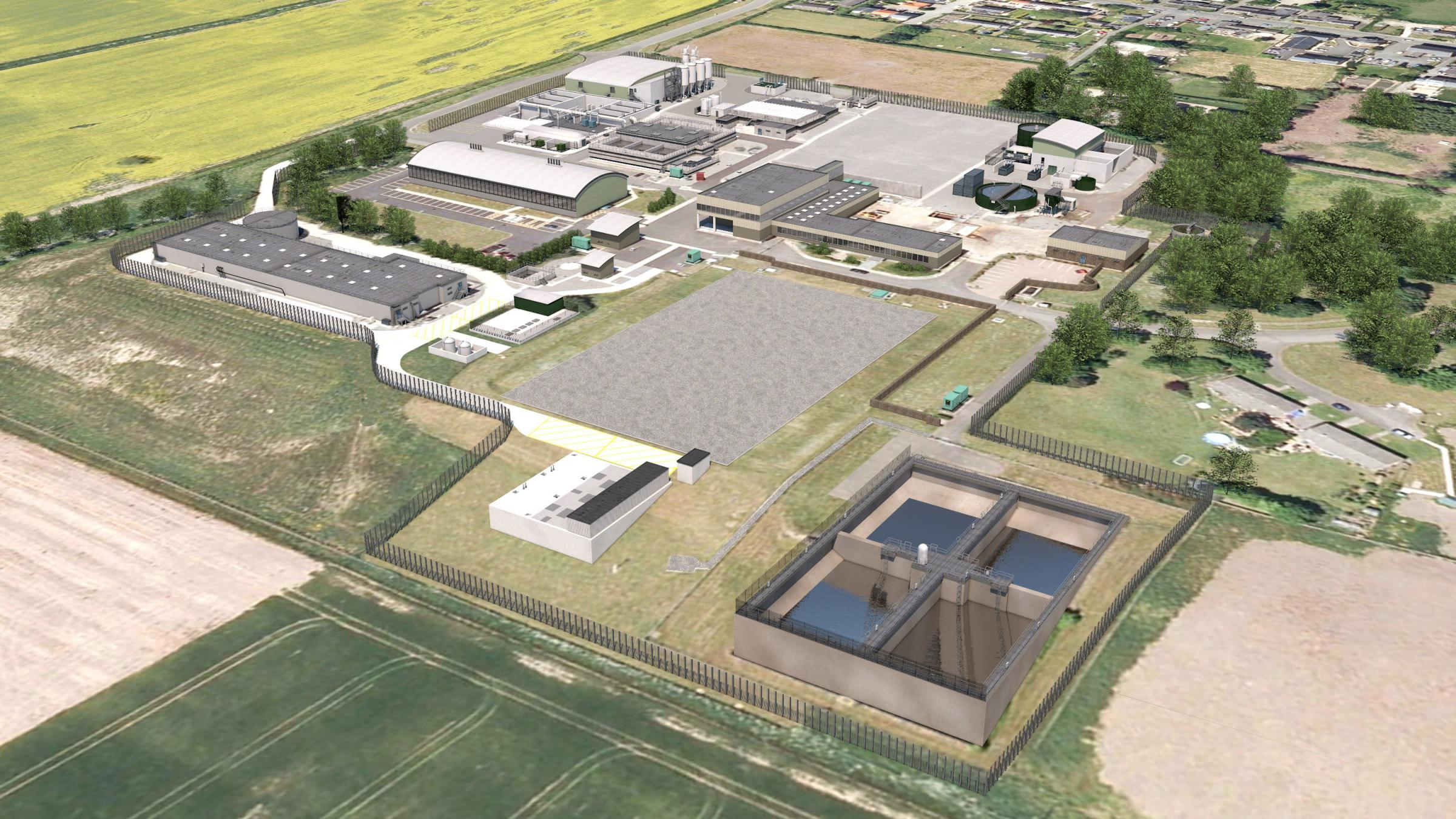 How it is envisaged the Northumbria Water treatment works in Horsley will look following the £46m upgrade.