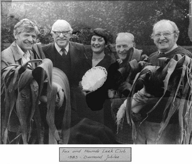 Winners of the 1983 Wylam Leek Club Show had plenty to celebrate. Do you recognise any familiar faces? From left to right is J. Helm, J. Fiddes, Mrs Yvonne Sanders, K. Thompson and M. Appleby.