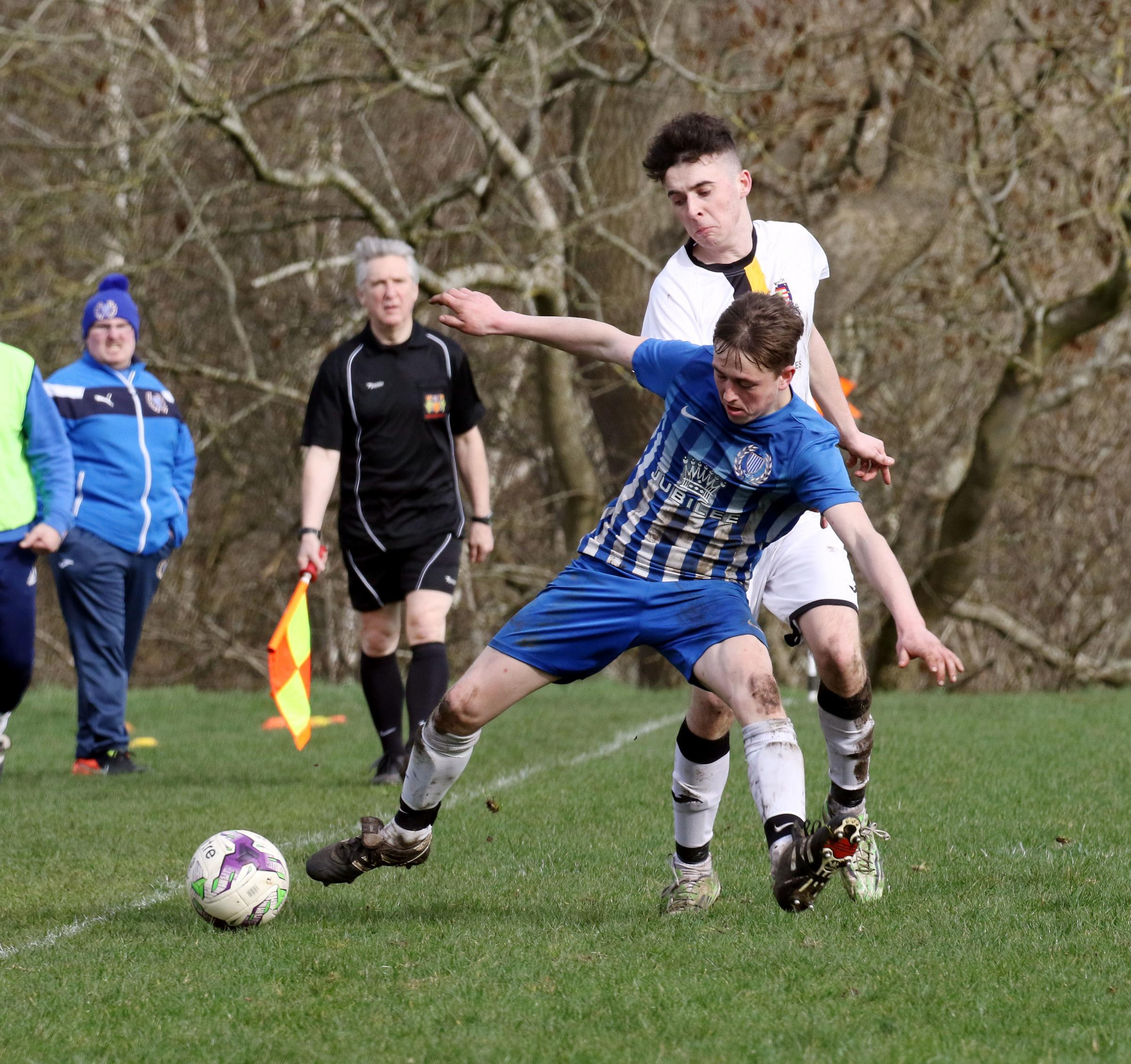 Goal scorer Jack Barker was Haltwhistle's man of the match. Photo: PAUL NORRIS
