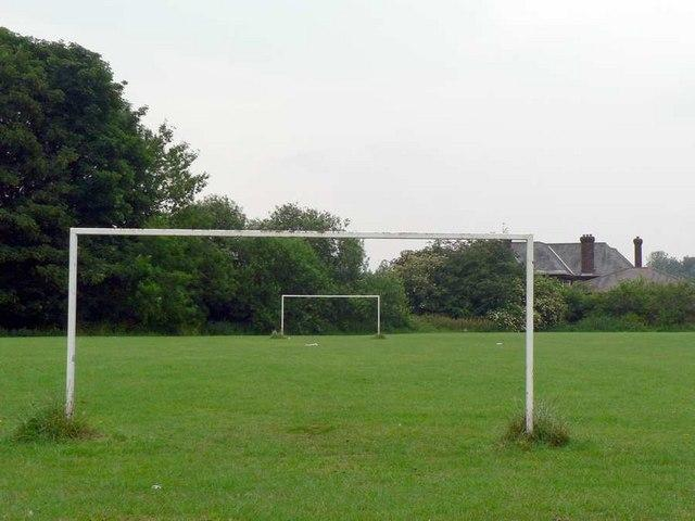 Football pitch.