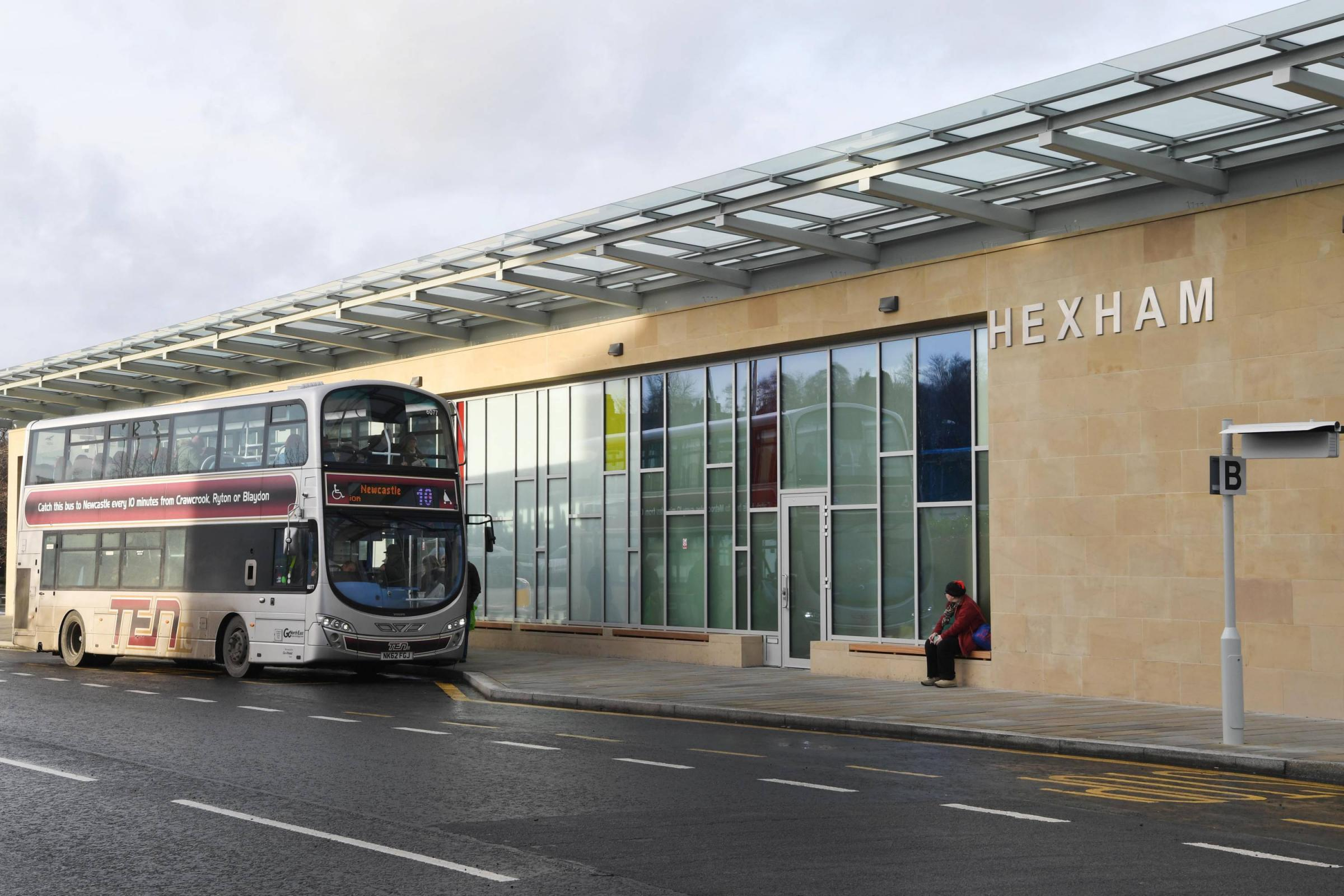 K031730 Bus Station. Hexham Bus Station. Buses. Transport. Go North East. THURSDAY 12TH JANUARY 2017. KATE BUCKINGHAM.