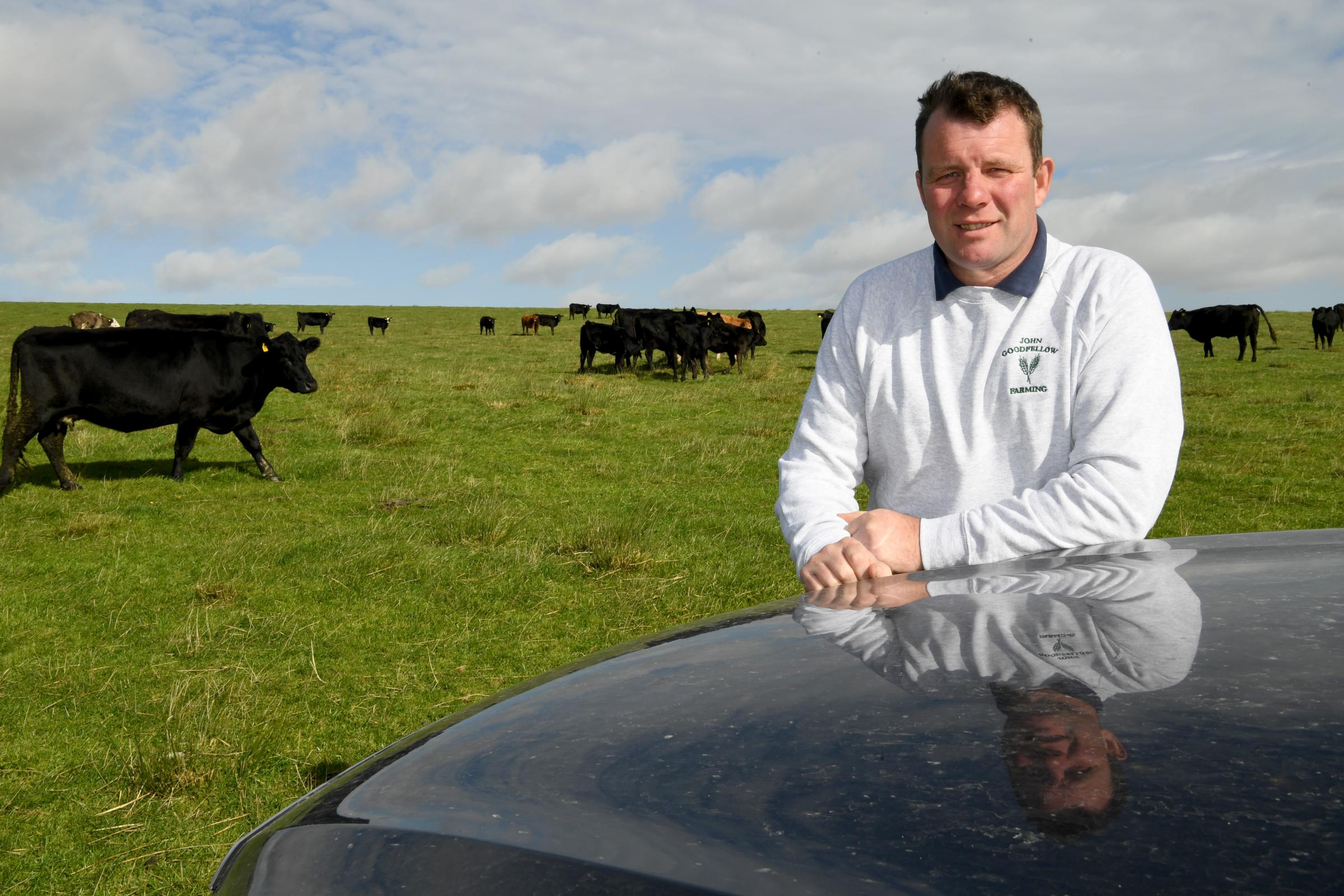 Managing director of Goodfellow Farming, John Goodfellow, at his farm in Bellingham.