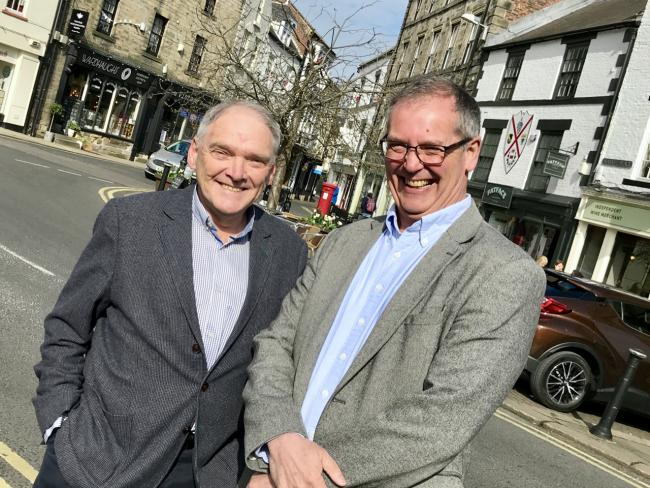 Hexham Community Partnership chairman Peter Rodger (left) welcomes new trustee Bob Fletcher.