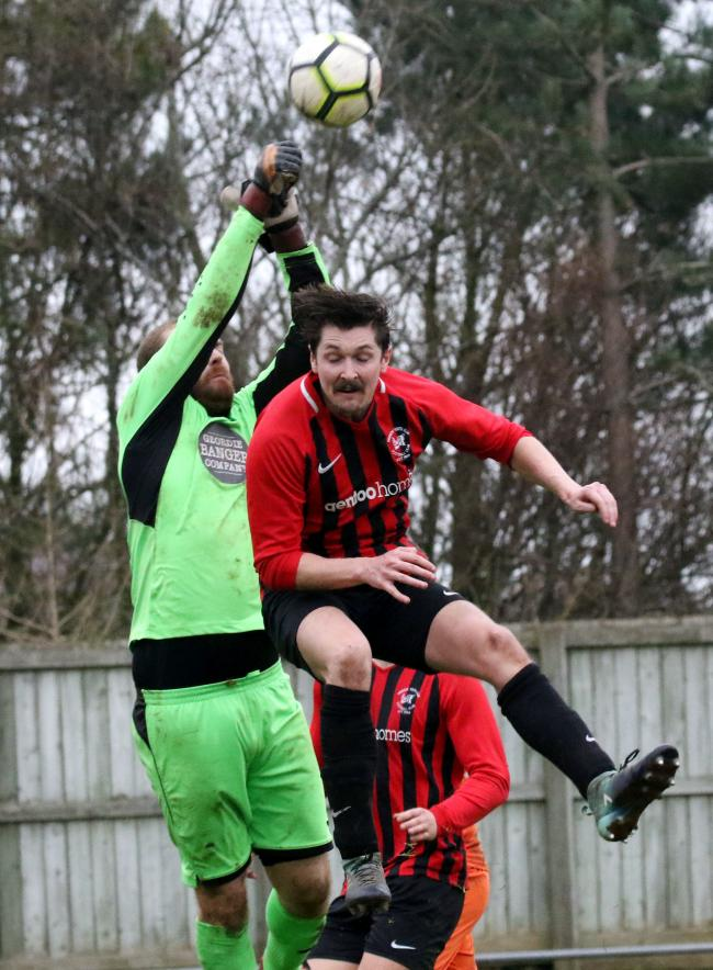 David Burns scored Prudhoe YC Seniors' second goal in their victory over Ellington in the Northumberland Senior Cup on Saturday.                                                                                                Photo: PAUL NORRIS