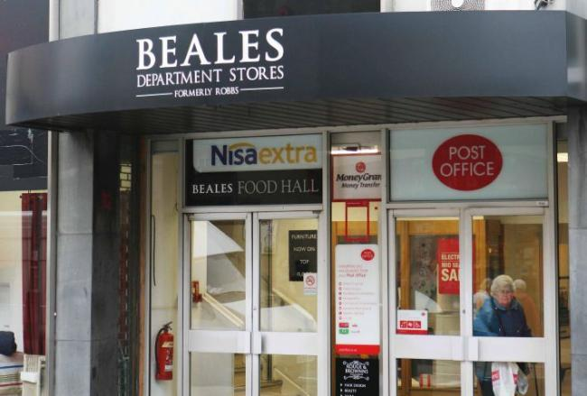 Beales, in Hexham.