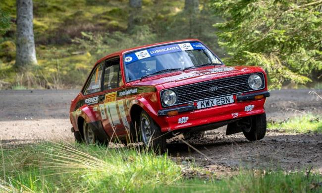 Matt Robinson competing in last year's Kielder Forest Rally.