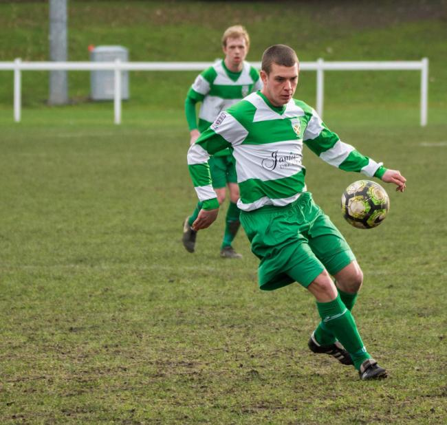 Kurtis Harvey fired Hexham into a 2-1 lead against Gosforth Bohemians on Saturday.                  Photo: WWW.ANDYTPHOTOS.COM