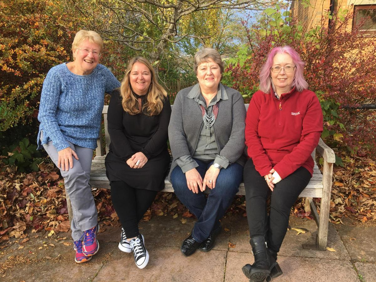 Chrysalis Dementia Care Group organisers Penny Wallace, Lola Plumb, Liz Tait and Wendy Camsey.