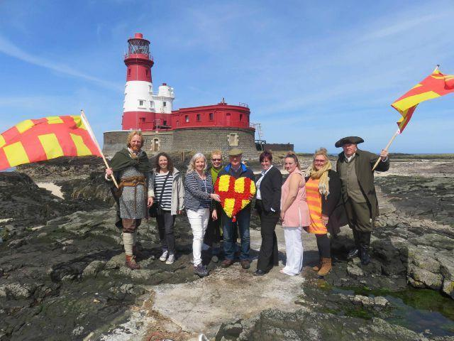 The launch of last year's Northumberland Day at Longstone Lighthouse, on one of the Farne Islands.