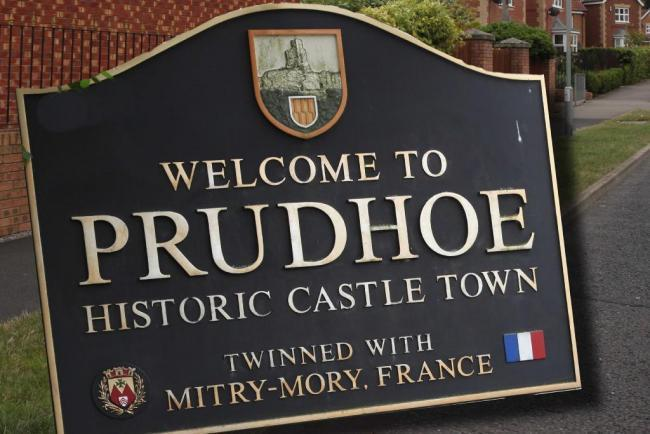 Welcome to Prudhoe sign.