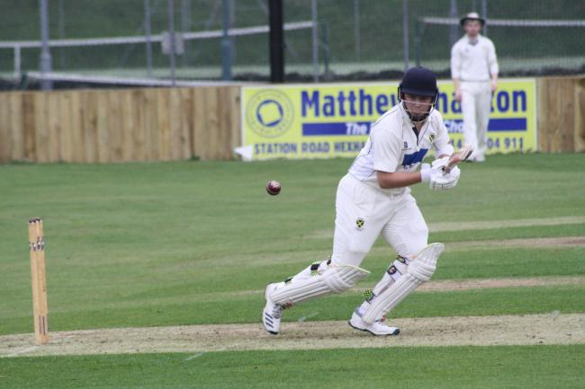 Tynedale batsman Oliver Fletcher sets off on a run against Stocksfield.