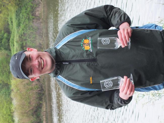 Ben Wilkinson with his trophy haul from Wansbeck Regatta.