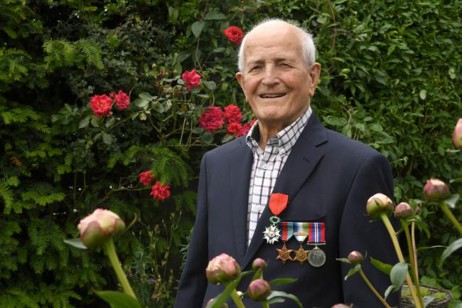 War veteran Marcus Gatenby talks about his experience of D-Day on the 75th anniversary. Photo: HX231974. KATE BUCKINGHAM.