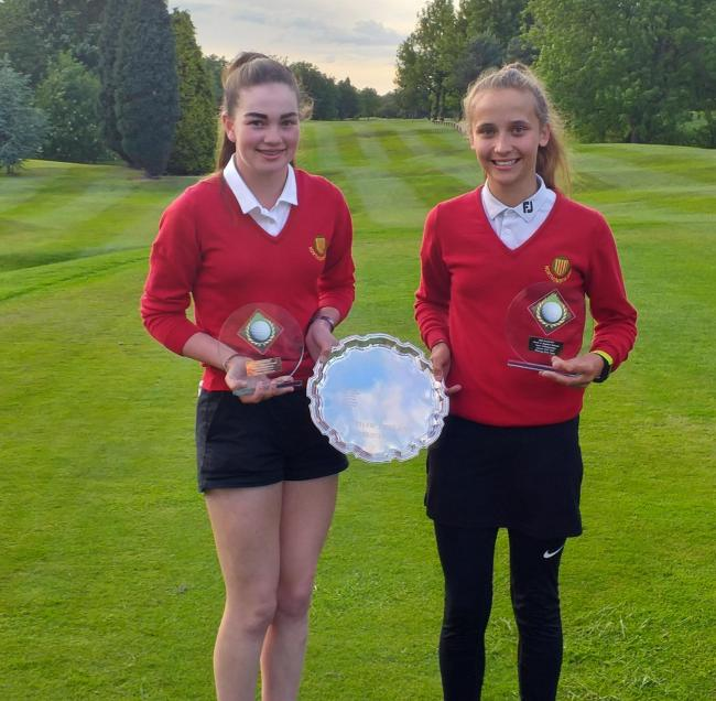 Rachel Gourley (left) and Zara Naughton were part of the team which won the North of England Girls' Championships alongside Lois Blythe.