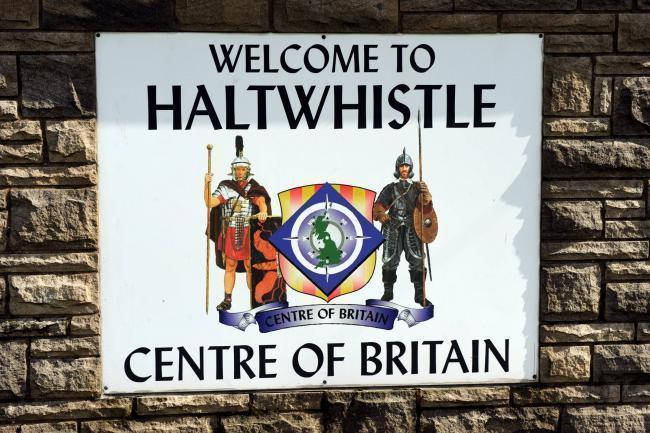 Welcome to Haltwhistle sign.